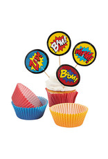 FUN EXPRESS Superhero - Cupcake Liners with Picks 50ct