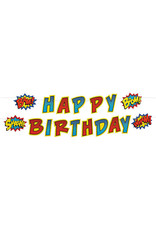 FUN EXPRESS Superhero - Garland, Birthday
