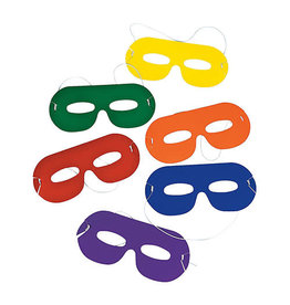 FUN EXPRESS Superhero - Masks, Bright Color 24ct