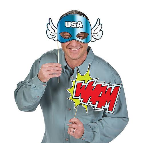 FUN EXPRESS Superhero - Photo Booth Props
