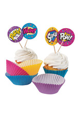 FUN EXPRESS Superhero Girl - Cupcake Wrappers with Picks