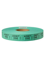US Toy Admit One Carnival Tickets - Green