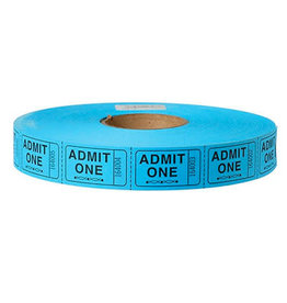 US Toy Admit One Carnival Tickets - Blue
