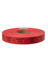 US Toy Admit One Carnival Tickets - Red