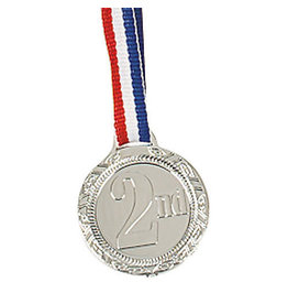 FUN EXPRESS Medal - 2nd Place, Small Plastic