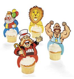 FUN EXPRESS Picks - Big Top Character Cupcake