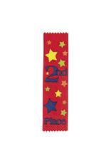 FUN EXPRESS Ribbons, Award - 2nd Place Red 12ct
