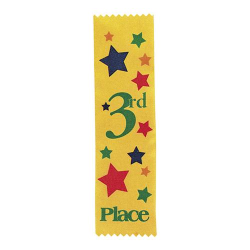FUN EXPRESS Ribbons, Award - 3rd Place Yellow 12ct