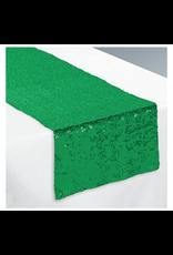 Green Sequin Table Runner