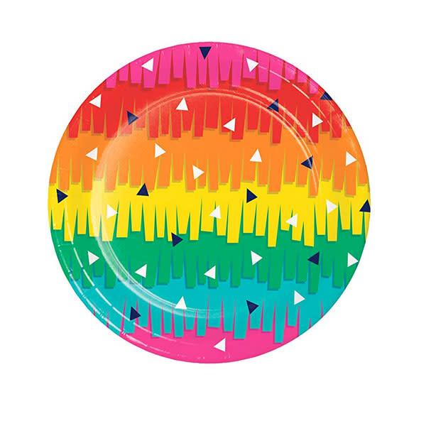"Creative Converting Fiesta Fun 7"" Plates"