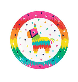 "Creative Converting Fiesta Fun 9"" Plates"