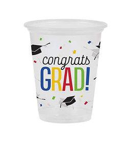 Creative Converting Colorful Grad - 16 oz Plastic Cup