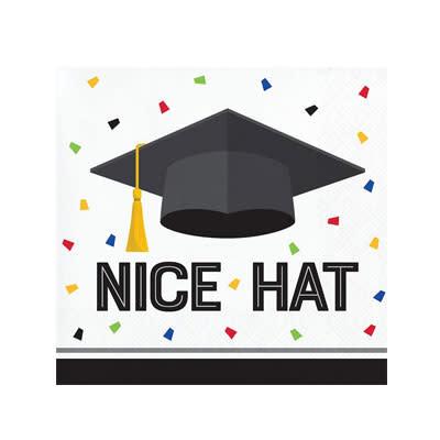 Creative Converting Graduation Fun - Bev Napkin - Nice Hat