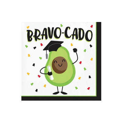 Creative Converting Graduation Fun - Bev Napkin - Bravocado