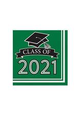 Creative Converting School Colors -  Luncheon Napkin - Class of 2021 Green