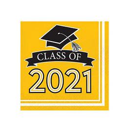 Creative Converting School Colors -  Luncheon Napkin - Class of 2021 Yellow