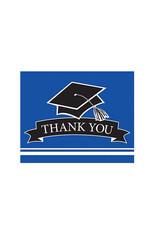 Creative Converting School Colors Graduation Thank You Cards - Cobalt