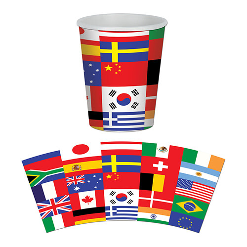 Beistle International Flag - Cups, 9oz