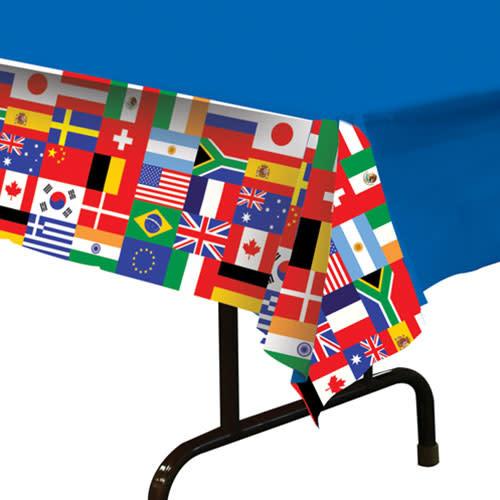 Beistle International Flag - Tablecover 54x108