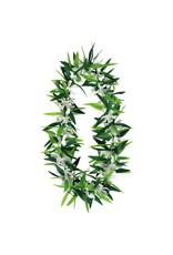 Green Leaf w/ Flowers Lei