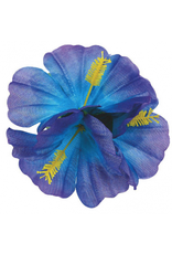 Hibiscus Hair Clip - Cool Colors
