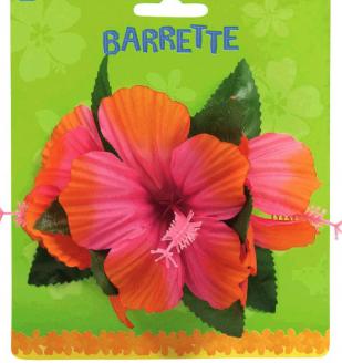 Hibiscus Hair Clip - Warm Colors