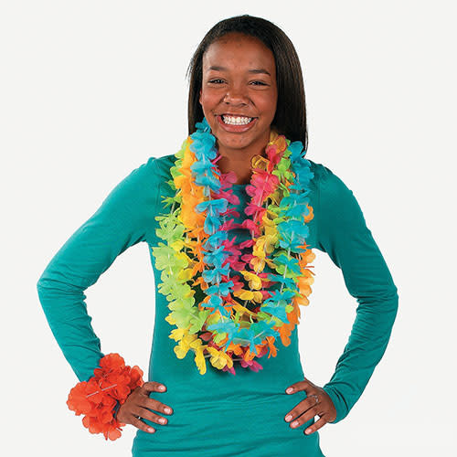 FUN EXPRESS Lei - Bright Color Flower