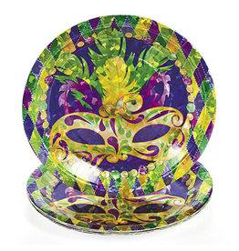 "FUN EXPRESS Prismatic Mardi Gras - Plates, 9"" Dinner"