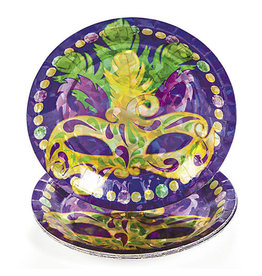 "FUN EXPRESS Prismatic Mardi Gras - Plates, 7"" Dessert"