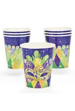 FUN EXPRESS Prismatic Mardi Gras - Cups, 9oz