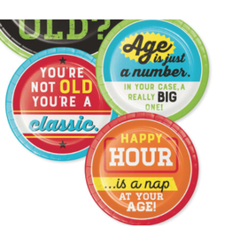 """Creative Converting Age Humor - 7"""" Plate Assorted"""