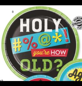 "Creative Converting Age Humor - 9"" Plate"