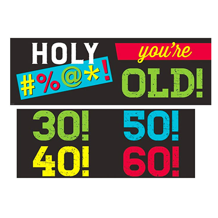 Creative Converting Age Humor - Banner with stickers
