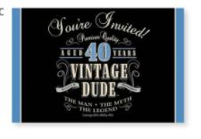 Creative Converting Vintage Dude Invitation - 40th