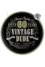 """Creative Converting Vintage Dude-  7"""" Lunch Plate, 60th"""