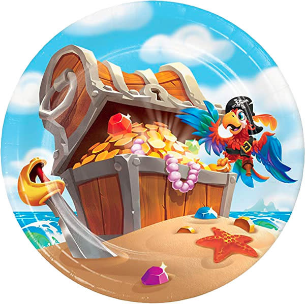 "Creative Converting Pirate Treasure - 7"" Plates"