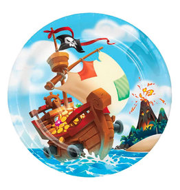 "Creative Converting Pirate Treasure - 9"" Plates"