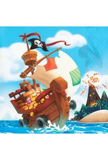 Creative Converting Pirate Treasure - Beverage Napkin