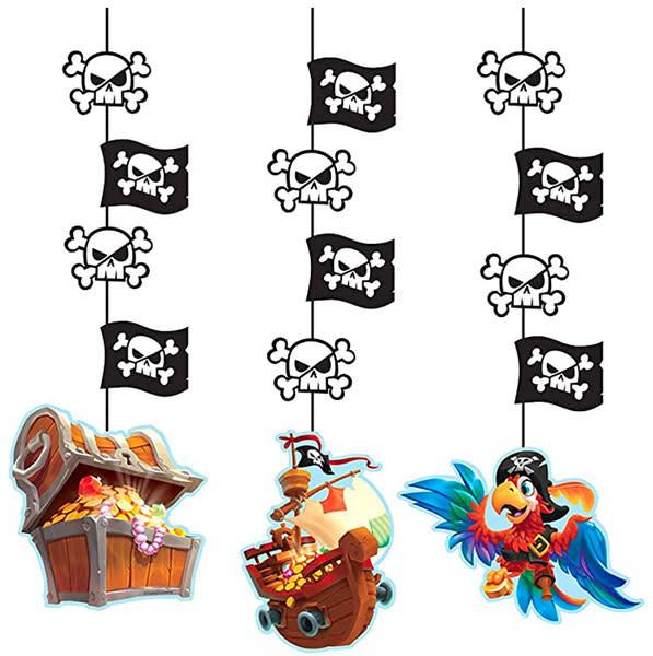 Creative Converting Pirate Treasure - Hanging Cutouts