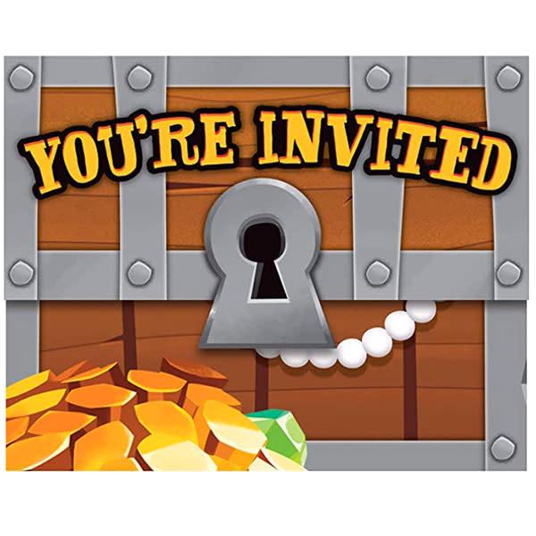 Creative Converting Pirate Treasure - Invitations