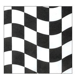 Creative Converting Black & White Check - Napkins, Beverage