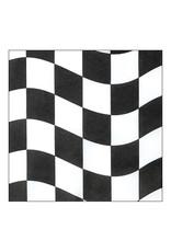 Creative Converting Black & White Check - Napkins, Luncheon
