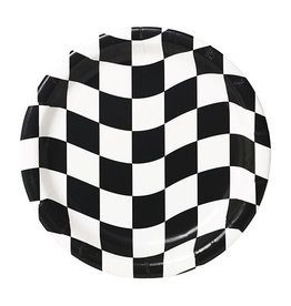 "Creative Converting Black & White Check - Plates, 7"" Dessert"