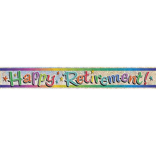 Unique Banner - Foil, Happy Retirement 9'