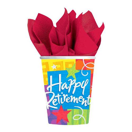 Happy Retirement - Cups, 9oz