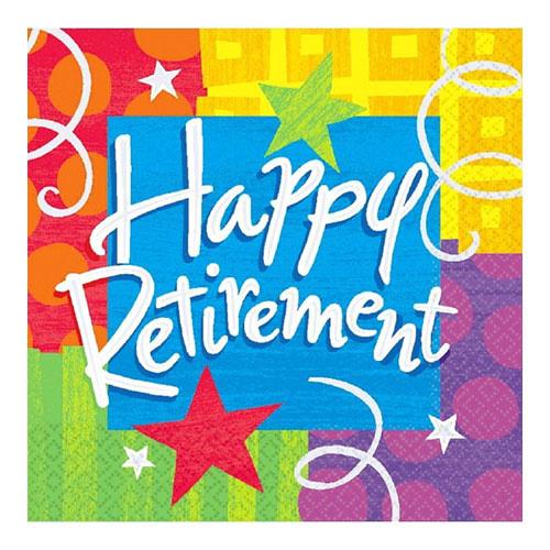 Happy Retirement - Napkins, Lunch