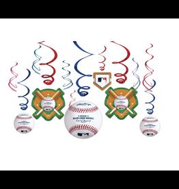 Rawlings™ Baseball Value Pack Swirl Decorations