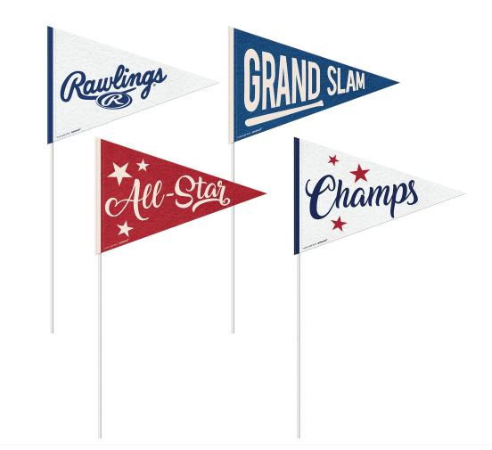 Rawlings™ Small Baseball Pennants