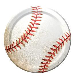 "Creative Converting Sports Fanatic - Baseball Plates, 7"" Lunch"