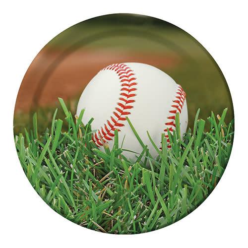 "Creative Converting Sports Fanatic - Baseball Plates, 9"" Dinner"